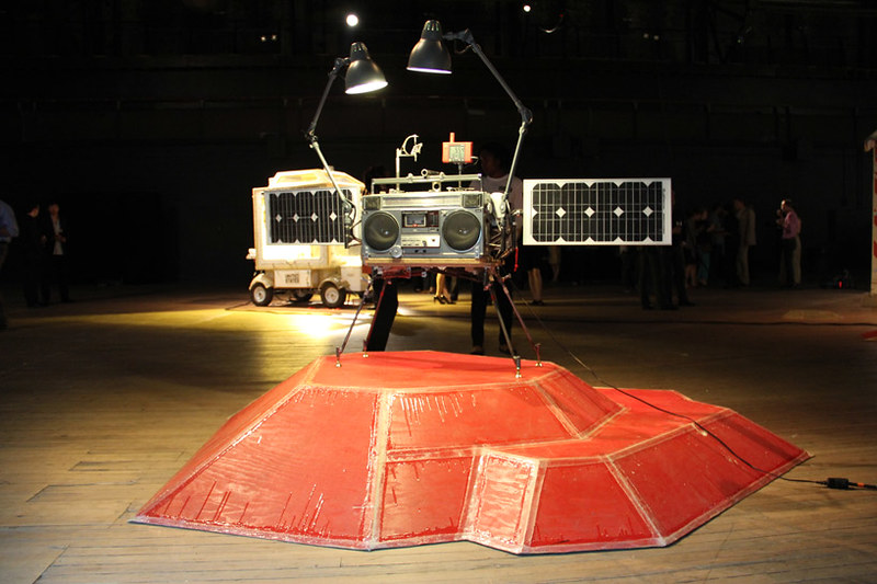 Tom Sachs Space Program Mars - MARS x Boombox - Photo Designboom -