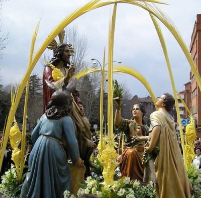 Jesús a lomos de la Burrita -Domingo de Ramos-