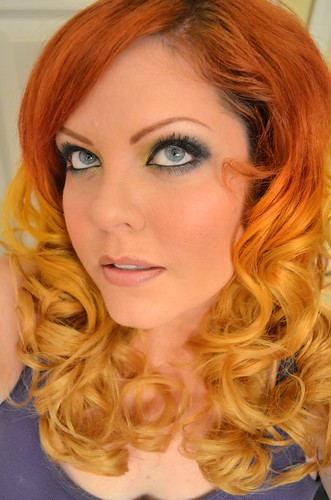 Ombre hair .. from red to orange to yellow