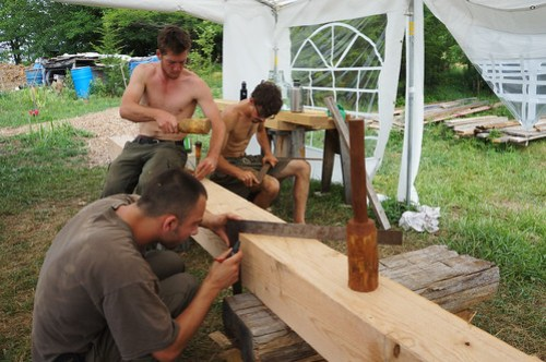 The Year of Mud Timber Frame Workshop 2012