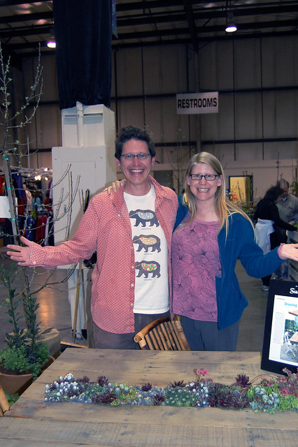 Matti and Megan with the Succulent Table