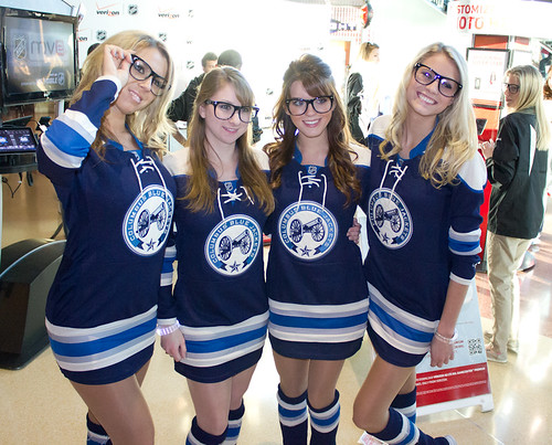 Blue Jackets and Ice Girls 174