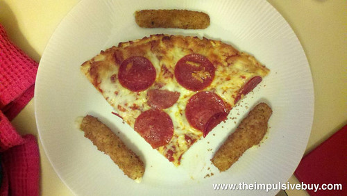 Red Baron Pizza & Sides Pepperoni Pizza & Breaded Mozzarella Sticks Closeup 2