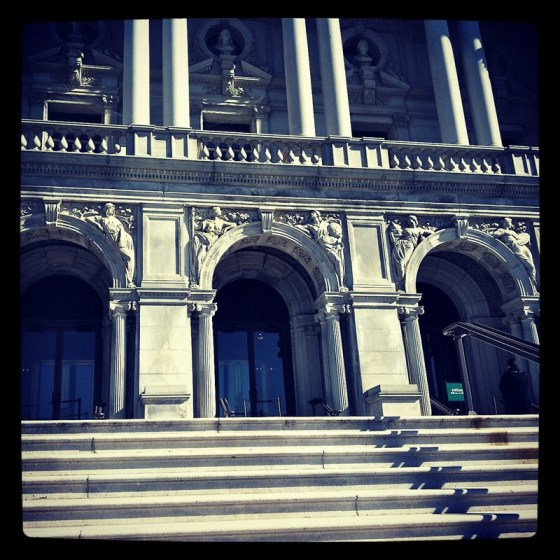 Entrance to The Library of Congress ♥ (Instagrammed photo) - February 2012