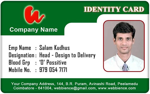 personal id card template - zrom