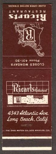 ricarts match book