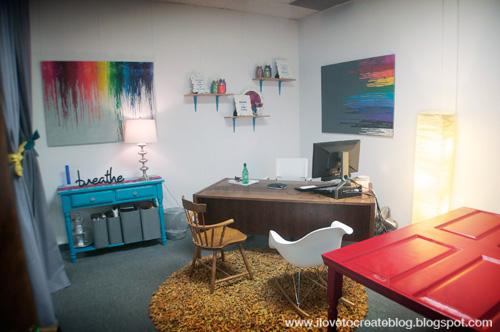 iLoveToCreate Blog Kristin\u0027s Mid-Century Rainbow Inspired Office!