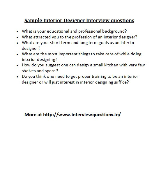 Sample Interior Designer Interview questions For different\u2026 Flickr