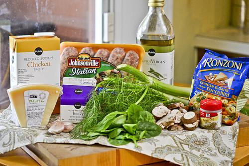 Tortellini with Italian Sausage, Fennel, and Mushroom 15