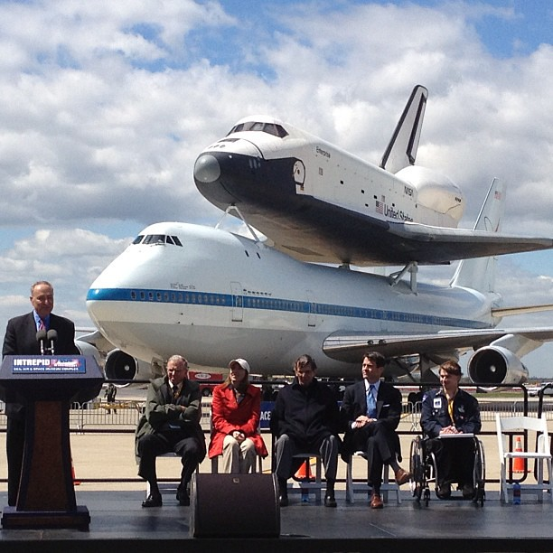Welcoming #Enterprise. #spottheshuttle #shuttlemash