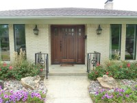 Ranch style house front door - Home design and style