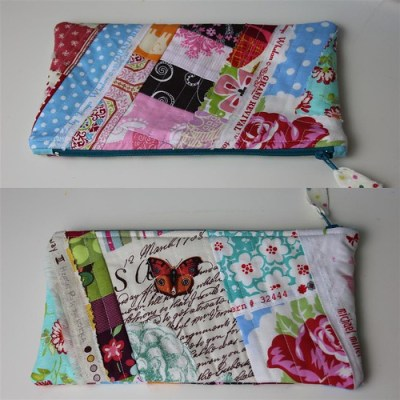 Another scrappy pouch...