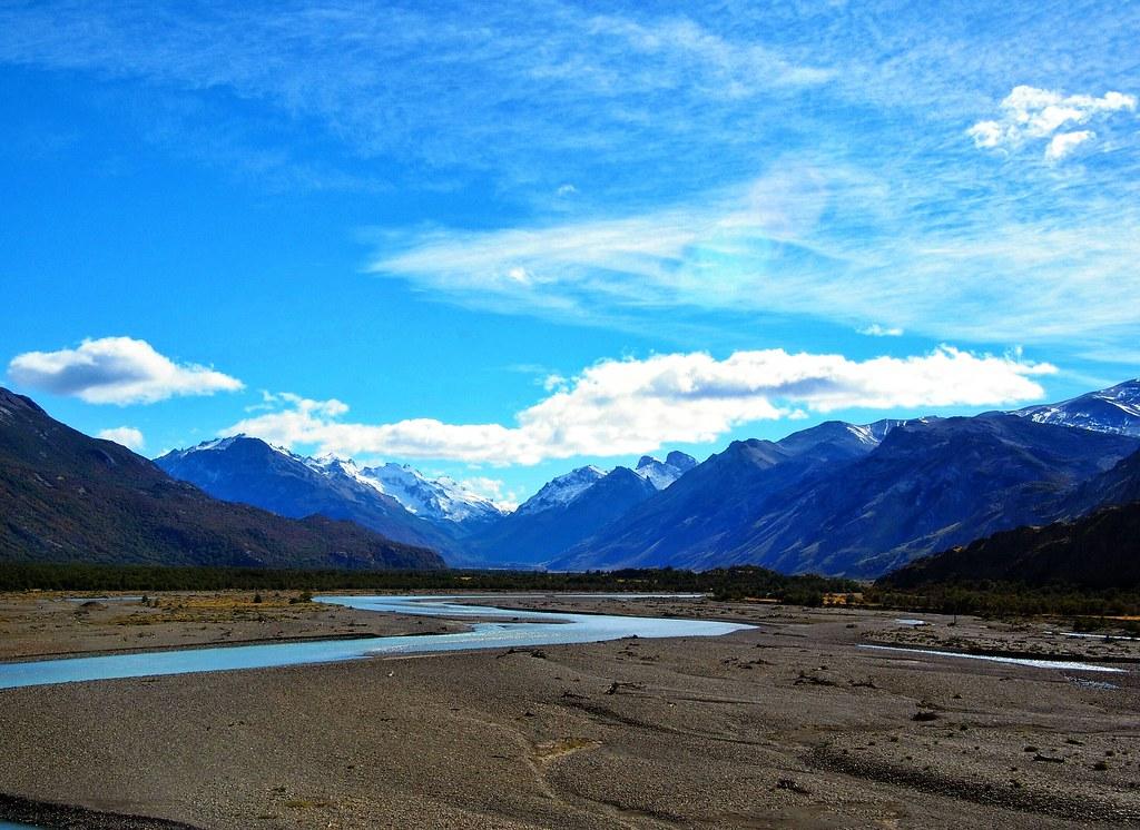 Blue Skies Meandering Rivers