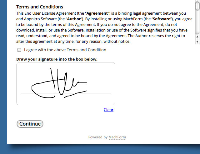 Electronic Signature on Your Forms! HTML Form Builder Online, PHP