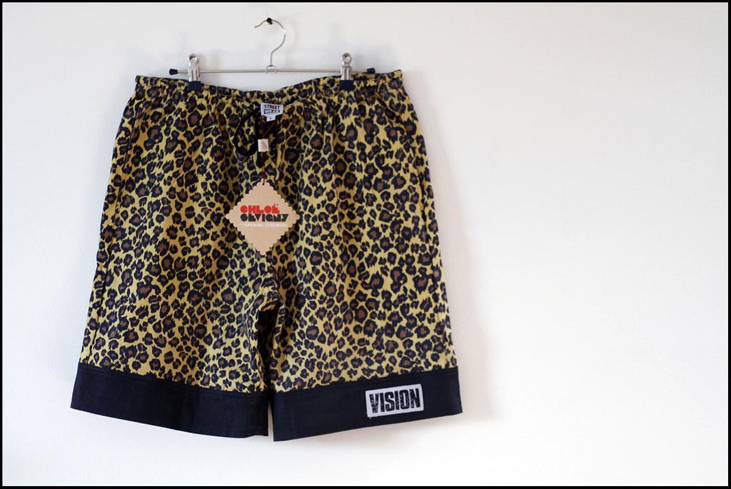 Tuukka13 - New Shorts x2 - Chloe Sevigny for Opening Ceremony x Vision Street Wear - Leopard Cuff Short - 1