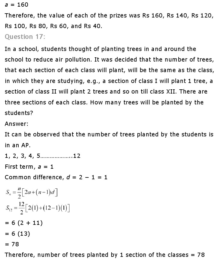 NCERT Solutions for Class 10th Maths: Chapter 5   Arithematic Progressions Image by AglaSem