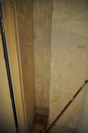 Former expansion tank closet