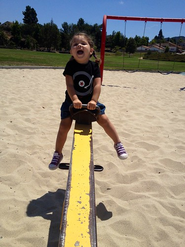 loves the seesaw