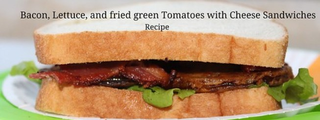 Fried Green Tomato, Bacon Lettuce and Cheese Sandwich