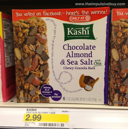 Kashi Chocolate Almond & Sea Salt with Chia Chewy Granola Bars