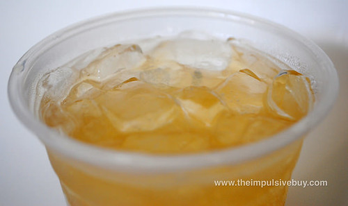 Starbucks Iced Peach Green Tea Lemonade Closeup
