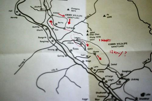 Spiti Trekking Map
