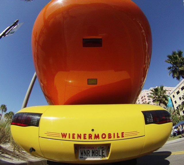Oscar Mayer Weinermobile! Clearwater Beach Uncorked, Food, Wine & Beer Festival. Clearwater Beach, Florida, Feb. 7, 2015