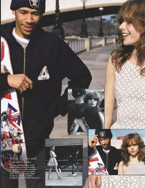 "Vogue UK June 2012 ""London Pride"" Model & Skater- Rosie Tapner & Lucien Clarke Stylist- Francesca Burns"