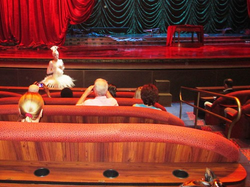 Prior to Zarkana, Some Members of the Cast Interact with the Audience, Aria Resort, Las Vegas, April 2013