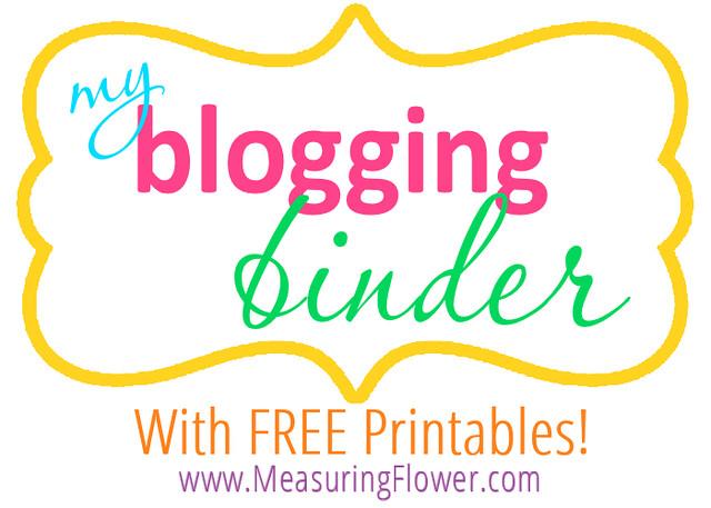 The Blogging Bug FREE Printable Blogging Binder - Measuring Flower