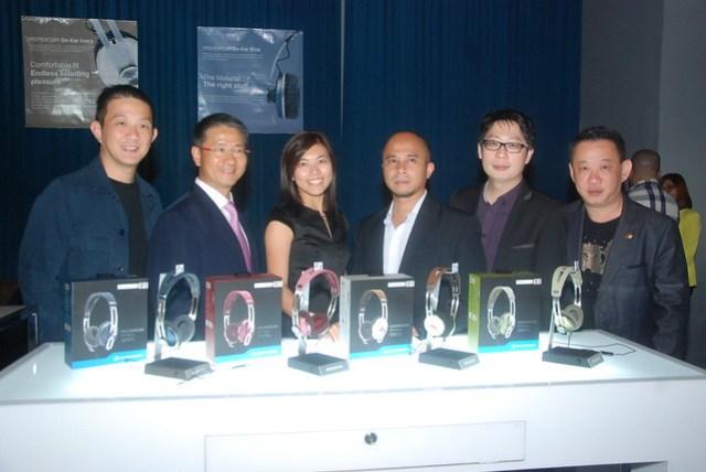 Sennheiser Asia Team Martin Low, Chee Soon Ng, Carolyn Chia, Daniel Lagdameo, Donald Low and Chris Low