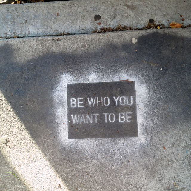 Positive Affirmation Street Art in Venice, Los Angeles, California