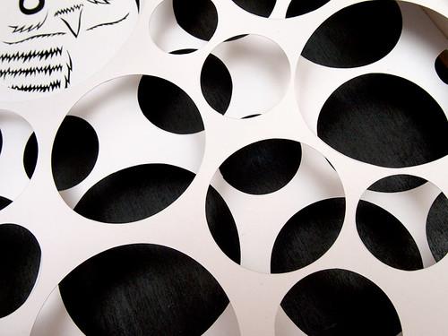 Circles and Animals- Grumpy Owl Paper Cut-4
