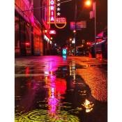 Rainy Wednesday night on Hastings St. #dtes #astoriahotel