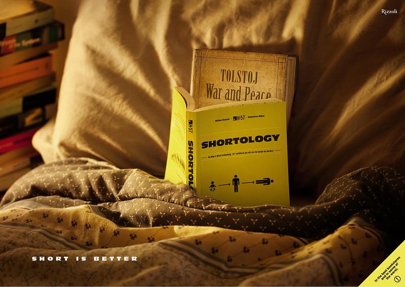 shortology campagna stampa natale Tolstoi