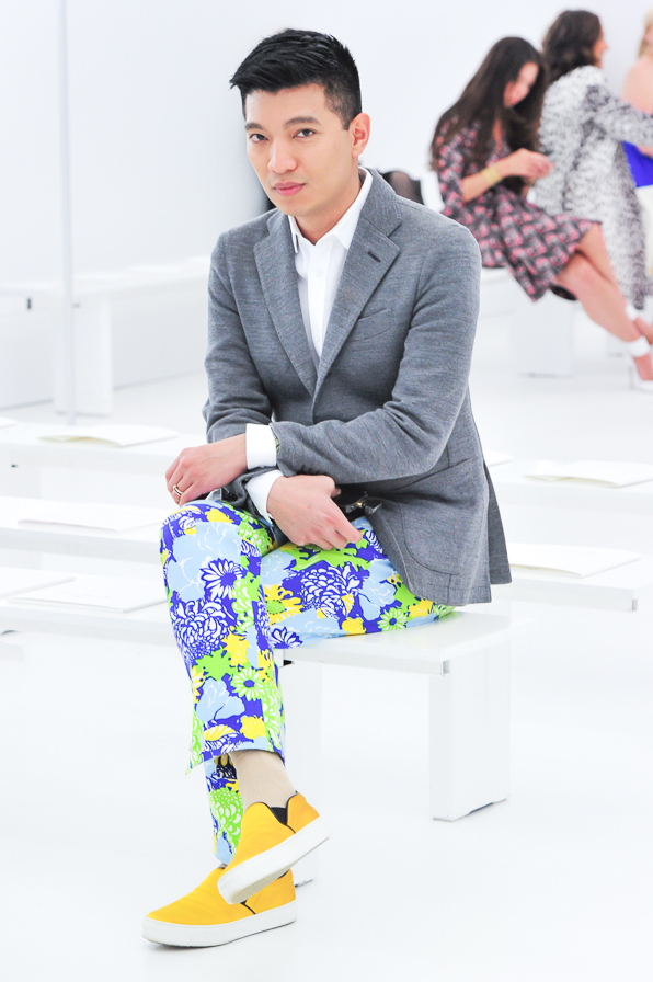 Bryanboy attends the Christian Dior Cruise 2015 fashion show in Brooklyn.