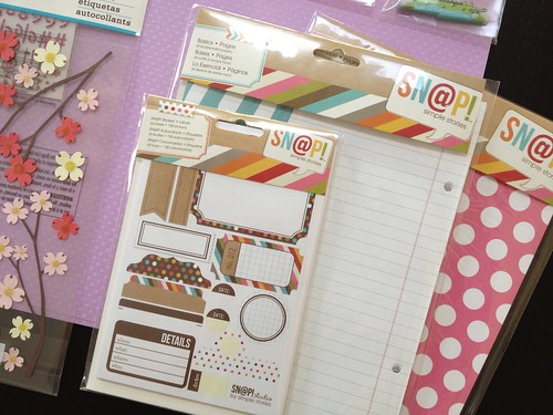 scrapbooking page supplies