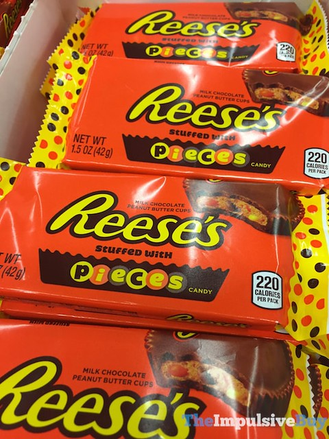 Reese's Peanut Butter Cups Stuffed with Reese's Pieces Candy
