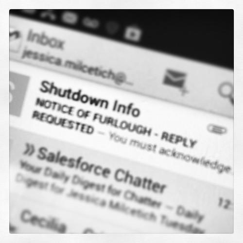 Well it's official. Just got my furlough notice. #governmentshutdown