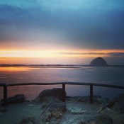 The view from the top of the campground at Morro Bay State Park