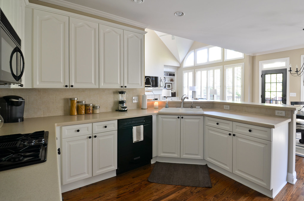 Painted kitchen cabinets before and after to newlywedism and beyond