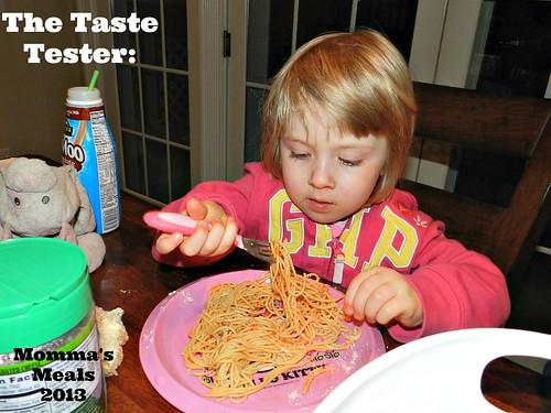 Maple Syrup Spaghetti
