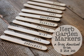 DIY Wooden Popsicle Stick  Seed Plant Markers