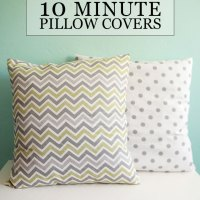 DIY Tutorial // Sew 10 Minute Throw Pillow Covers