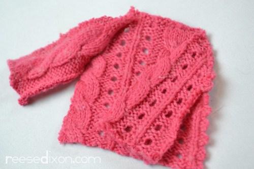 Miniature Sweater Ornament Tutorial Step 3