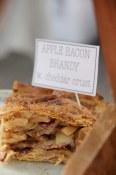 Apple, Bacon, Brandy pie with cheddar crust