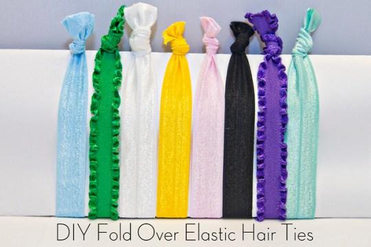 DIY Fold Over Elastic Hair Ties