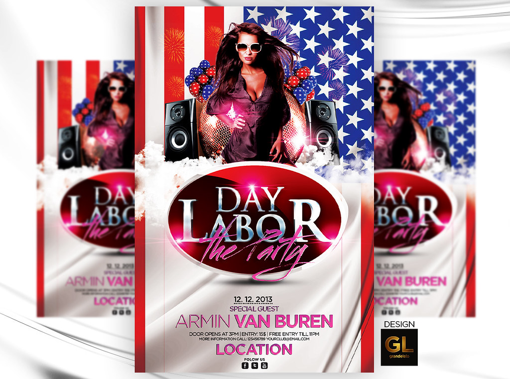 Labor Day Flyer Template YOU CAN DOWNLOAD THE TEMPLATE HER\u2026 Flickr