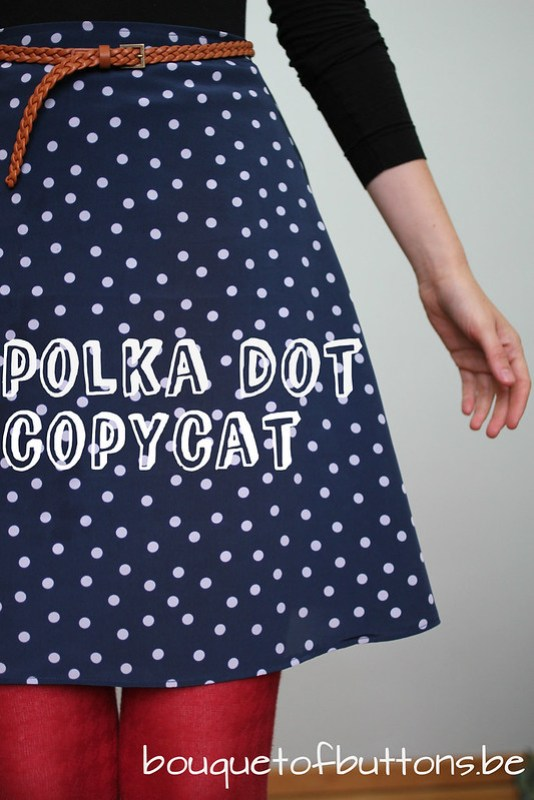 copycat sewing challenge polka dot new girl