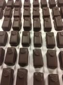 73% dark chocolate with blue cornflower and bergamot